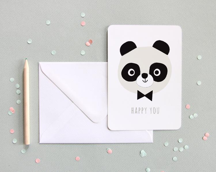 carte-panda-paul happy you - Zü